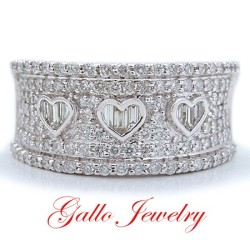 LR00293. Ladies Diamond Cocktail Heart Ring