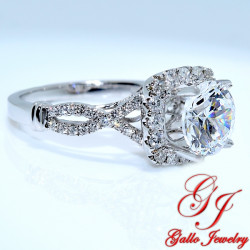 ENG01235. Diamond Halo Infinity Engagement Ring