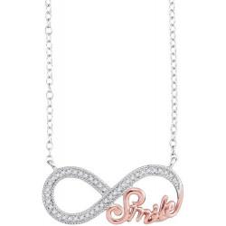 """93475.Fashion Diamond """"Smile"""" Infinity Pendant"""