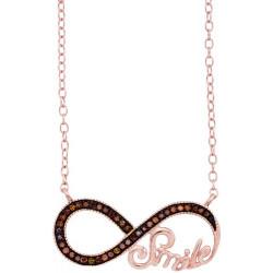 "93587.Fashion Cognac Diamond ""Smile"" Infinity Pendant"