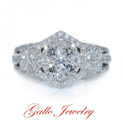 LR01014. Ladies Fancy Diamond Cluster Ring