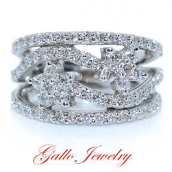 LR00266. Ladies Flower Diamond Ring