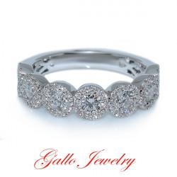 WB01158. Ladies Fancy Style Diamond Wedding Band