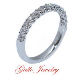 "SET00952B. Ladies ""U"" Prong Style Diamond Wedding Band"