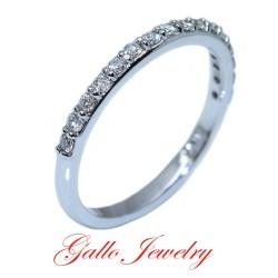 SET00959B. Ladies Prong Setting Diamond Wedding Band