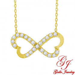 S070. 925 Silver Crystal Infinity Pendant