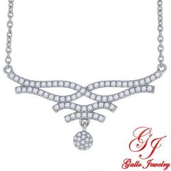 S0103. 925 Silver Crystal Fancy Pendant
