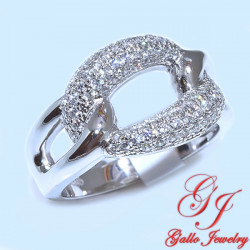 S084. 925 Silver Crystal Fashion Ring