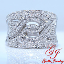 S085. 925 Silver Crystal Fashion Ring