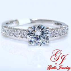 S0117. 925 Silver Crystal Engagement Ring