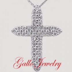 Pen00178A. Diamond Cross Pendant(Larger Size)