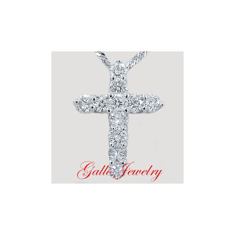Diamond cross pendantlonger style mozeypictures Choice Image