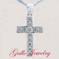 Pen00184. Diamond Cross Pendant