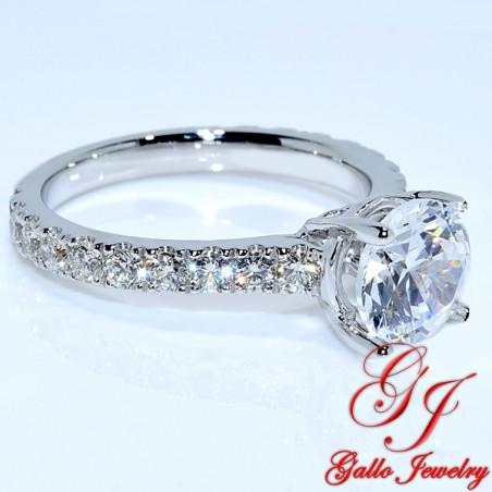 Eng01239 Prong Diamond Engagement Ring