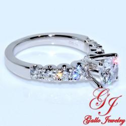 "ENG00510. ""U"" Prong Diamond Engagement Ring (Center Stone Sold Separately)"