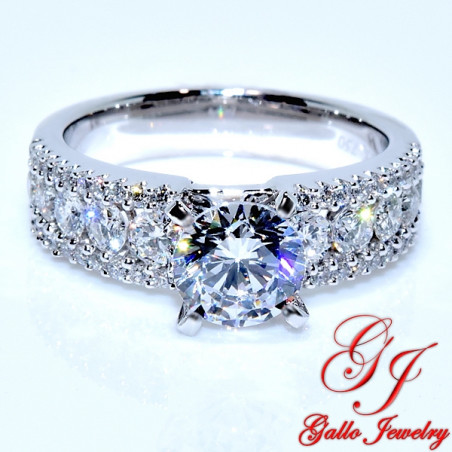 Eng00002 Fancy Diamond Engagement Ring Center Stone Sold