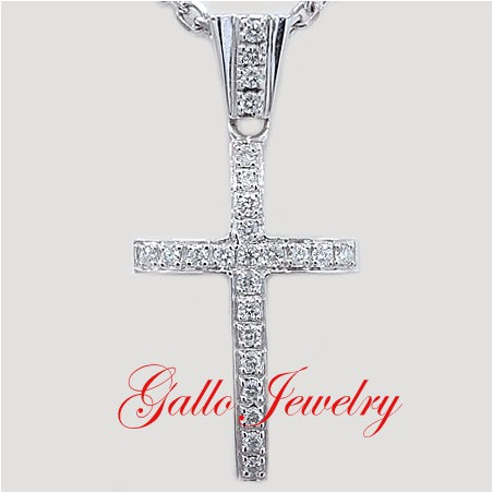 Pen00196. Men's Diamond Cross Pendant