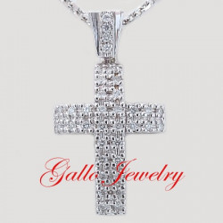 Pen00197. Men's Diamond Cross Pendant