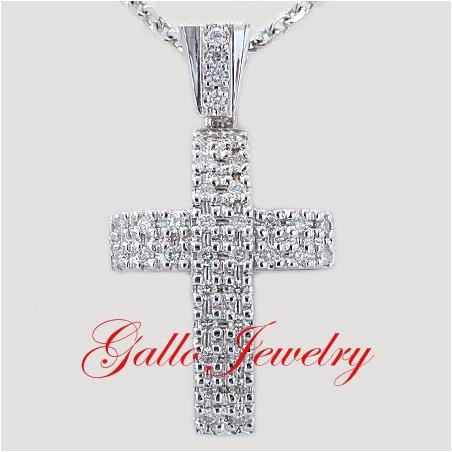 Pen00197. Men's Diamond Cross Pendant