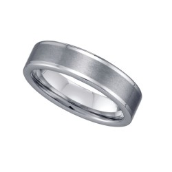 22298. Tungsten polished & Brushed Ring