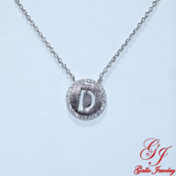 S0184.B. 925 Sterling Silver Initial 'B' Pendant
