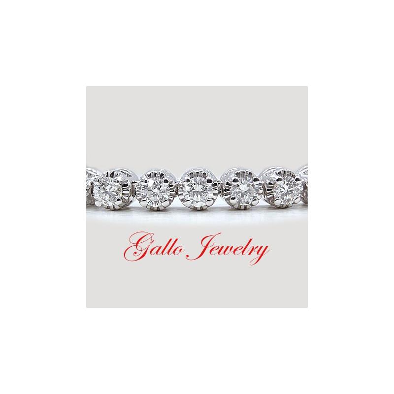 LB La s Fancy Vintage Style Diamond Tennis Bracelet
