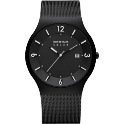 14440-222. BERING MEN's MILANESE BLACK WATCH