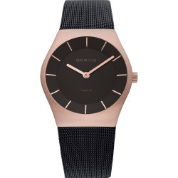 11935-262. BERING MEN's MILANESE BLACK WATCH