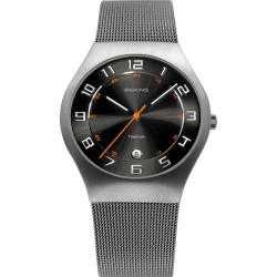 11937-007. BERING MEN's MILANESE GREY WATCH
