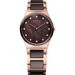 32230-765. BERING WOMEN'S STAINLESS STEEL ROSE GOLD WATCH