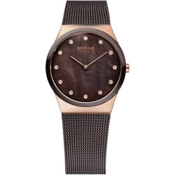 32230-262. BERING WOMEN'S MILANESE BROWN WATCH