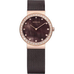 10729-262. BERING WOMEN'S MILANESE BROWN WATCH