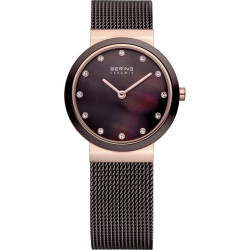 10725-262. BERING WOMEN'S MILANESE BROWN WATCH