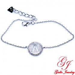 S0189.A. 925 Sterling Silver Initial 'A' Bracelet