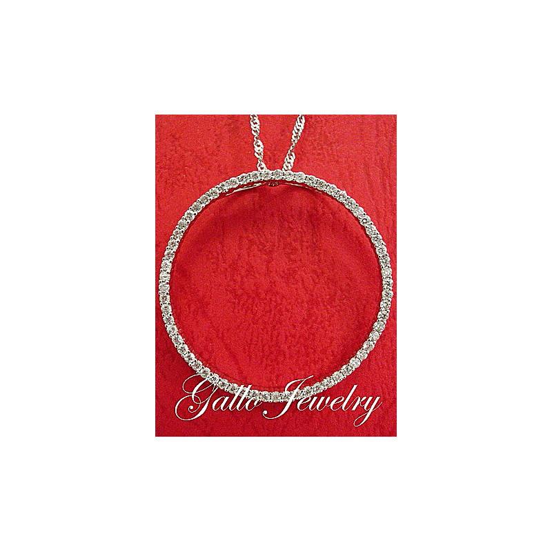 Large diamond circle of love pendantnecklace diamond circle of love pendantlarger size aloadofball Choice Image