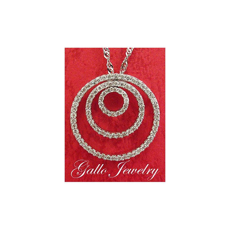 Triple diamond circle of love pendantnecklace triple diamond circle of love pendant aloadofball Choice Image