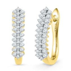 101939. Diamond Huggie Earrings
