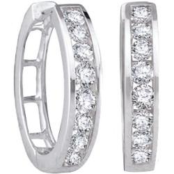 91566. Diamond Hoop Earrings