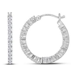 111882. Diamond Hoop Earrings
