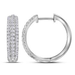 111884. Diamond Hoop Earrings