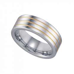 17938 TWO TONE TUNGSTEN BAND