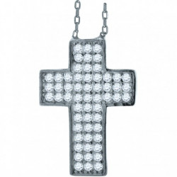 52892. 925 Silver Crystal Cross Pendant