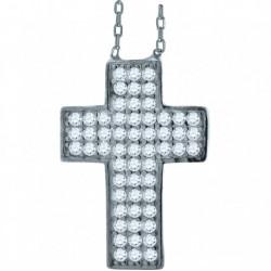 52892. 925 Silver Crystal Cross Pendant