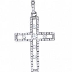 57182. 925 Silver Crystal Cross Pendant
