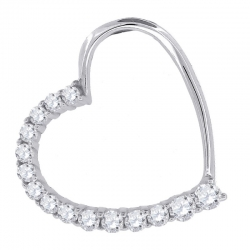 57230. 925 Silver Crystal Heart Pendant