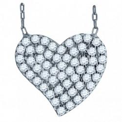 52873. 925 Silver Crystal Heart Pendant