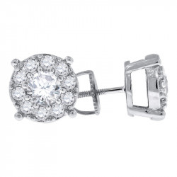 AE024. 925 Silver Crystal Fancy Drop Earrings
