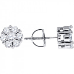AE025. 925 Silver Crystal Fancy Drop Earrings
