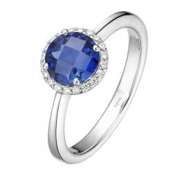 BR001SAP05. Lafonn Sapphire Birthstone Halo Ring