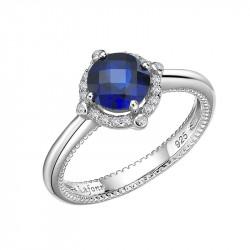BR002SAP05. Lafonn Sapphire Birthstone Halo Ring